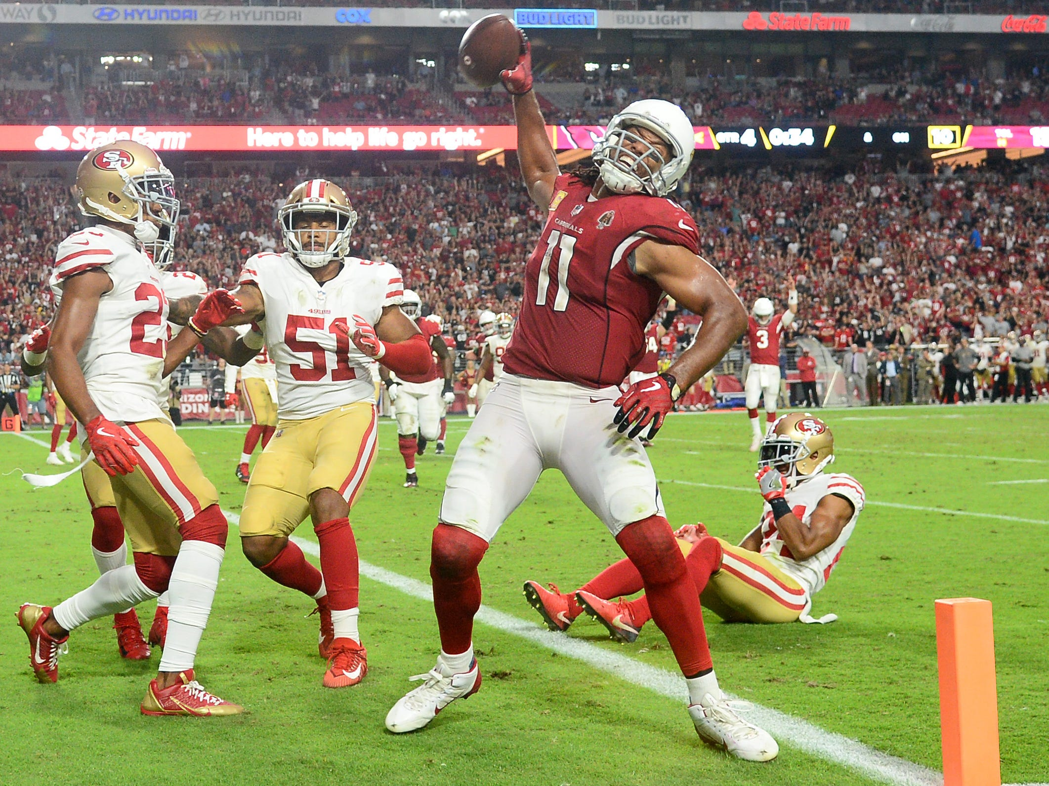 29. Cardinals (30): Trick — if Larry Fitzgerald's son tricked him into spiking a football for the first time in his life ... worthwhile ruse, kid.