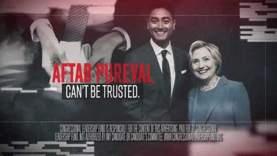 Congressional Leadership Fund's ad against Aftab Pureval, a Democrat running against Rep. Steve Chabot, R-Ohio.