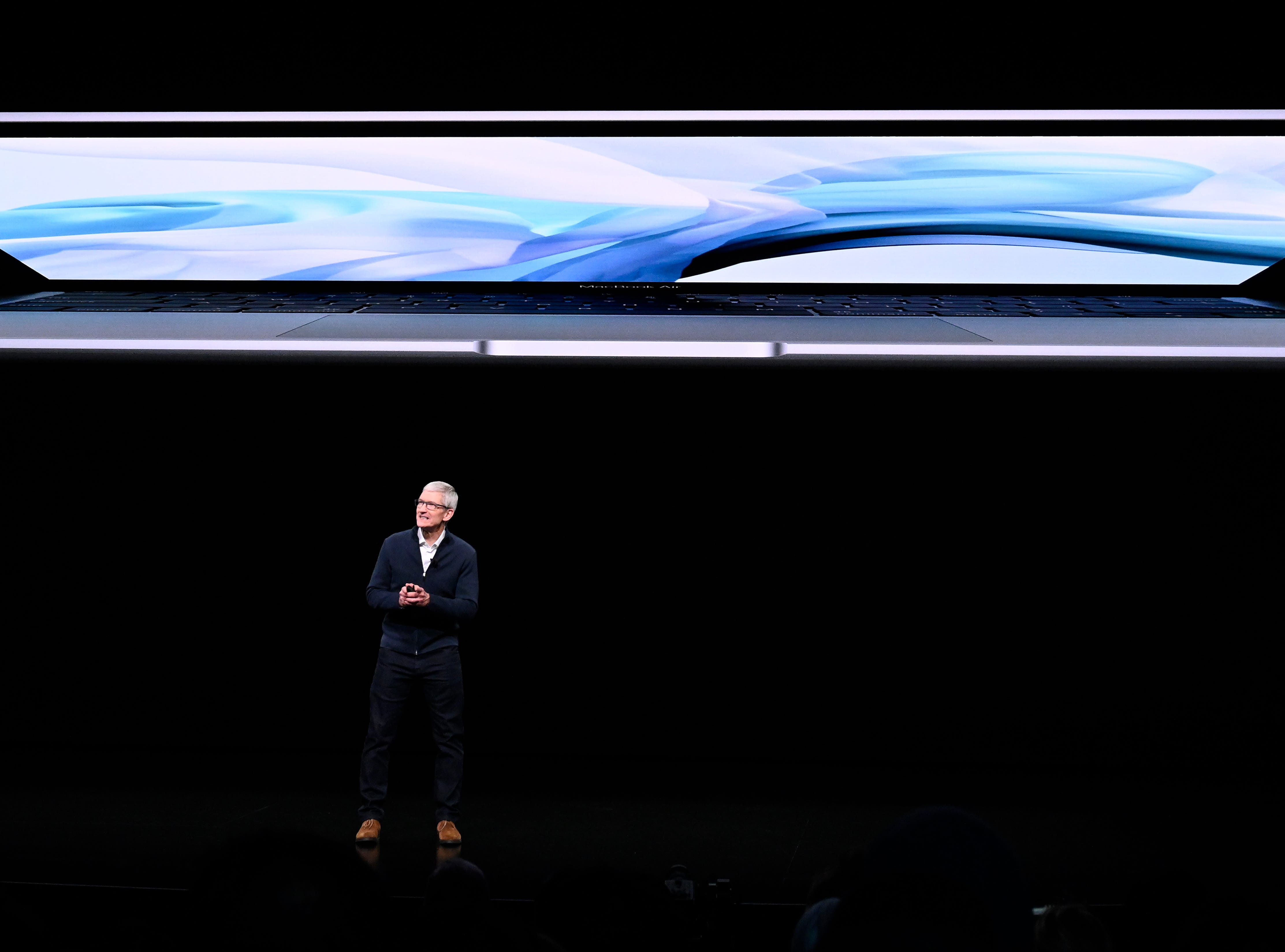 Apple CEO Tim Cook speaks during an Apple special event at the Howard Gilman Opera House at the Brooklyn Academy of Music in New York, Tuesday, Oct. 30, 2018.