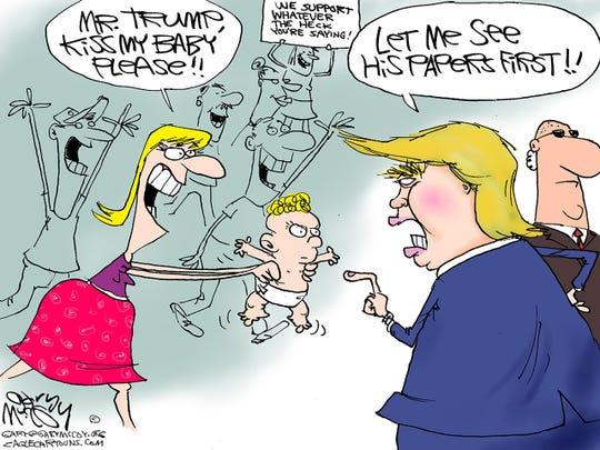 Trump baby kisses