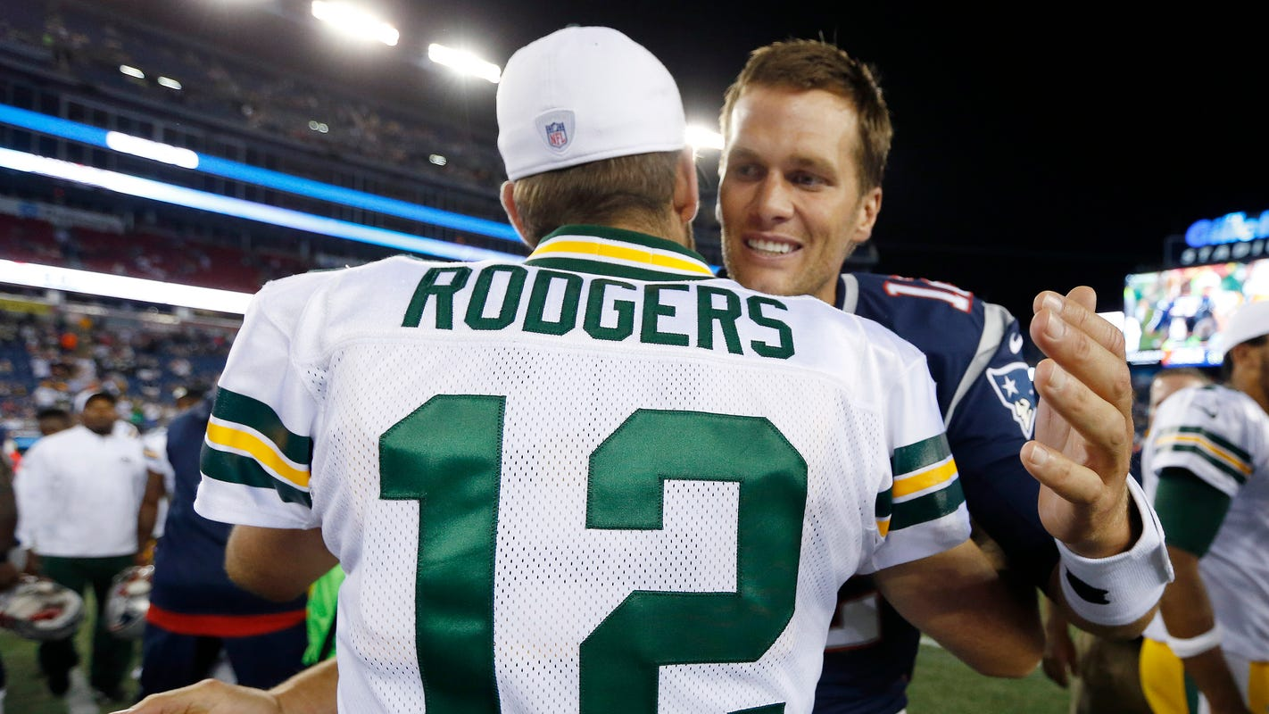 fb1e9a16e Aaron Rodgers vs. Tom Brady is rare heavyweight brawl of top NFL QBs