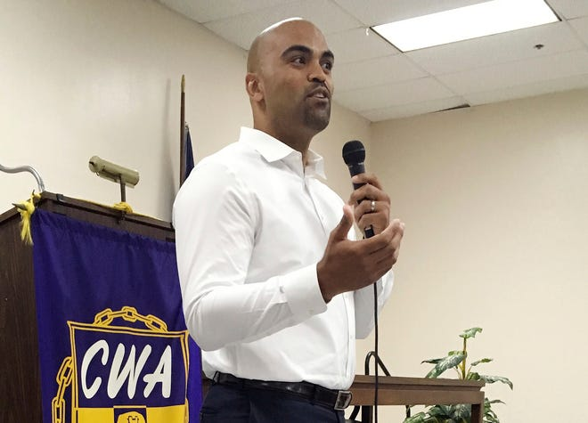 Former NFL linebacker Colin Allred is trying to beat incumbent Congressman Pete Sessions in the 32nd district of Texas