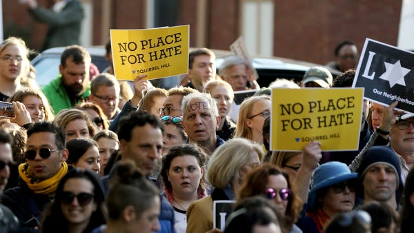 Over a thousand protesters march through the...