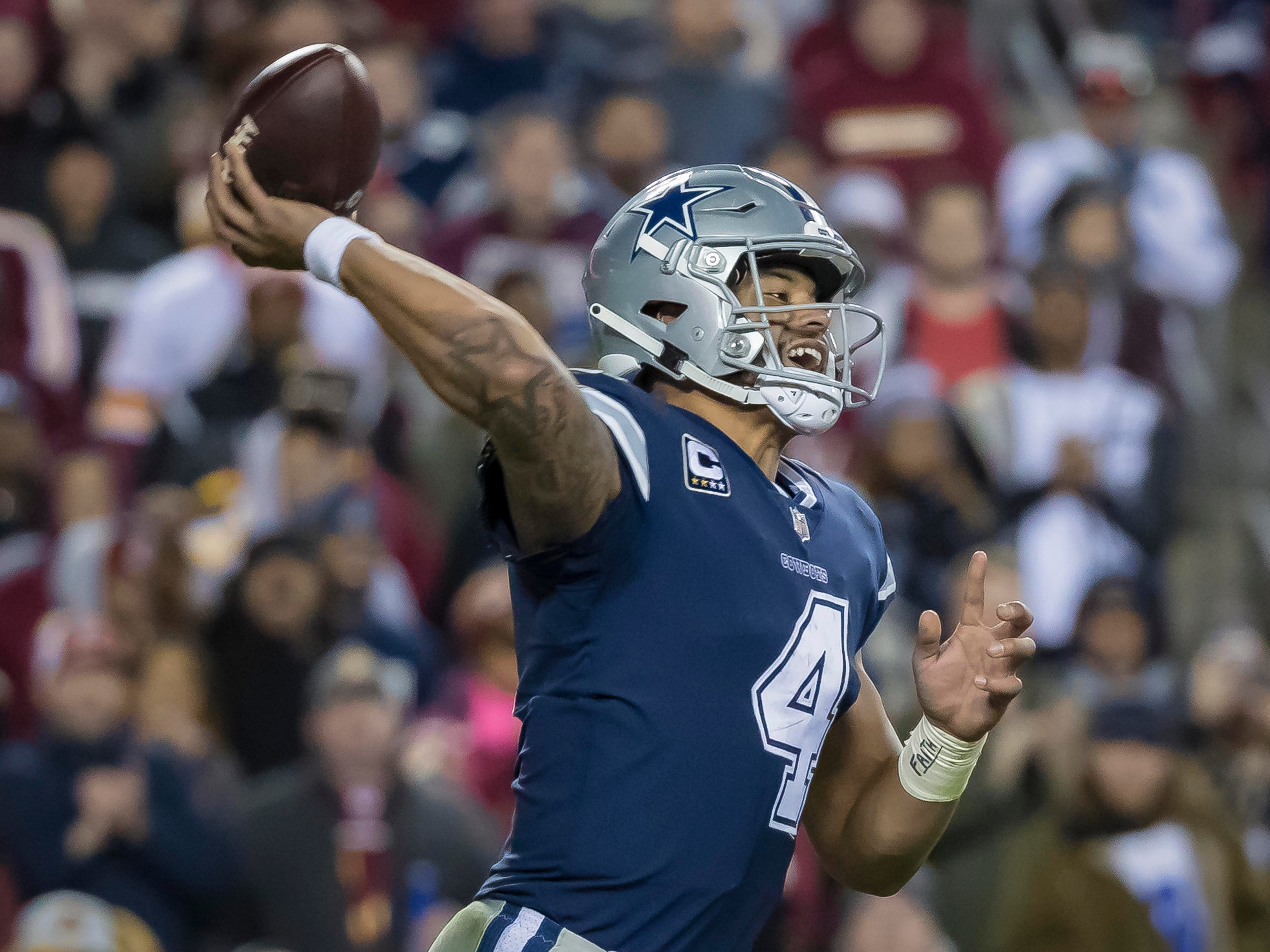 18. Cowboys (18): Treat — Dak Prescott finally has a No. 1 receiver with Amari Cooper set for Dallas debut. Wait, did Gruden just pull dirty trick on Jerry?