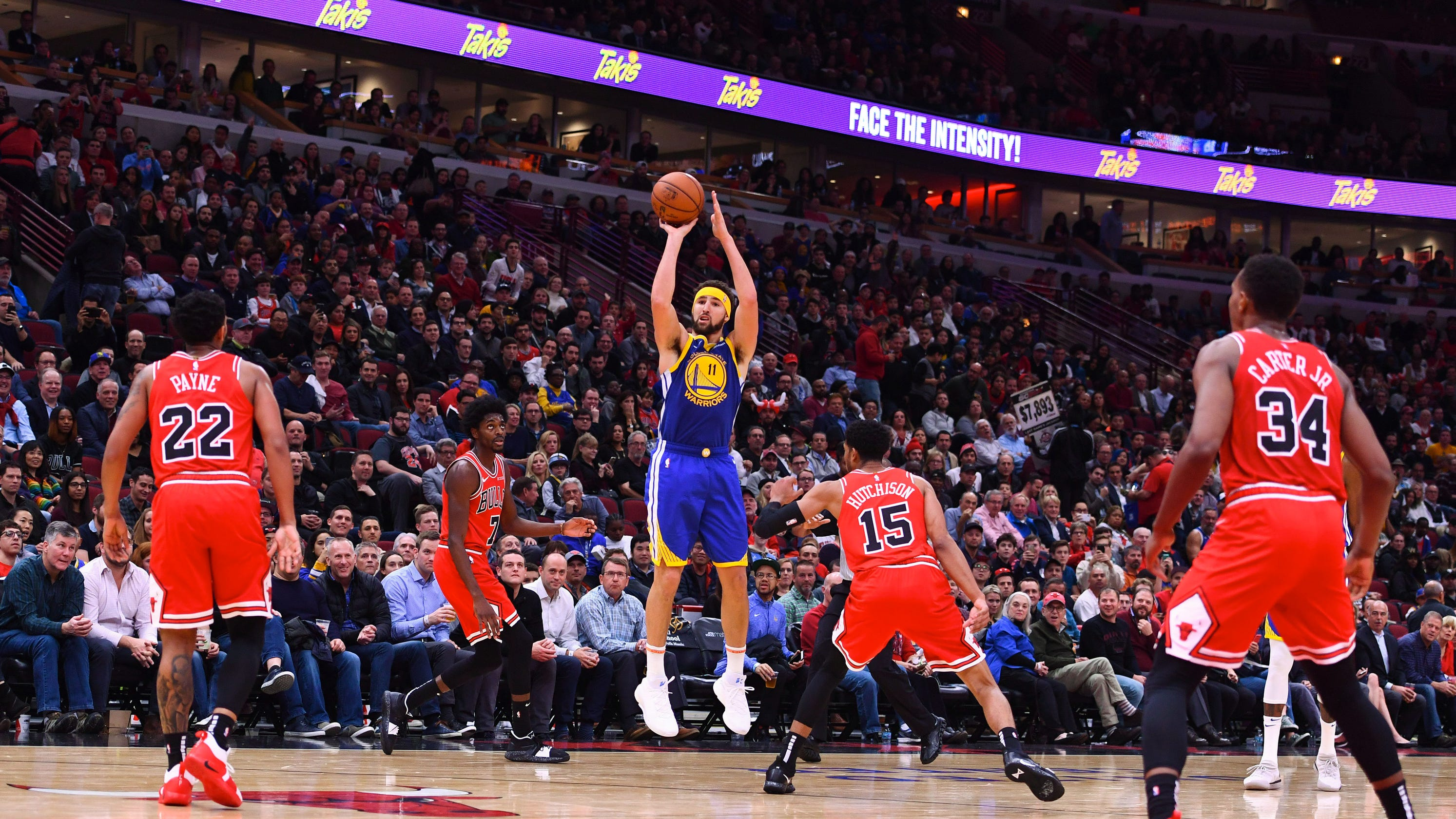 1794081ff20 Klay Thompson breaks NBA single-game 3-point record