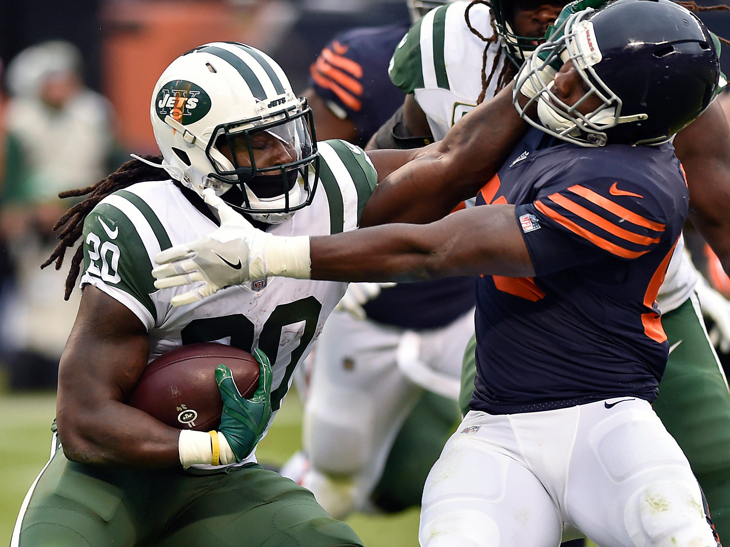 25. Jets (25): Trick — their 113.8 rushing ypg ranks 15th, just behind Chiefs. But take out 323-yard explosion in Week 5, and NYJ averaging AFC-worst 83.9.