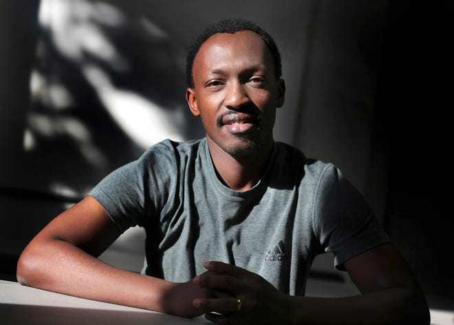 Heritier Muhorana is a 33-year-old Congolese refugee who settled in Appleton in July 2015. He got married in a refugee camp before coming to the U.S., but his wife and daughter haven't yet been able to join him. He has been working with World Relief Fox Valley in an effort to bring his family to the U.S.