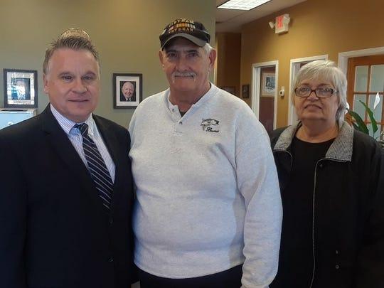 Rep. Chris Smith (left) with Bernard and Linda Ebner