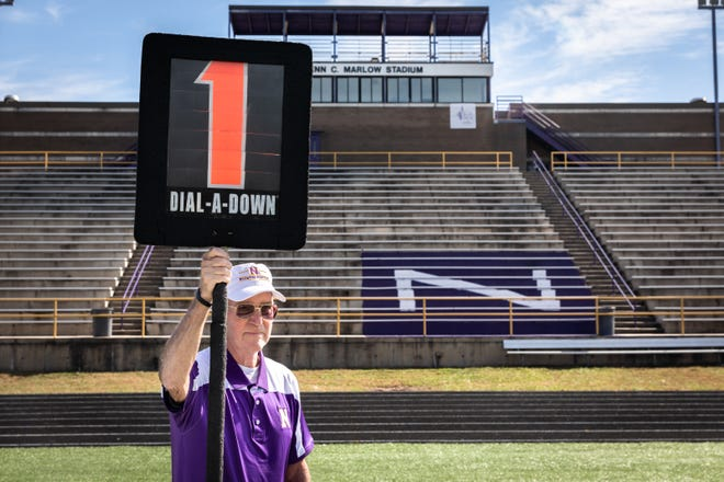 Floyd Grindstaff, 78,  has worked on the chain gang at North Henderson/Edneyville football games for the last 49 years. Friday night, Nov. 2, will be his final game.