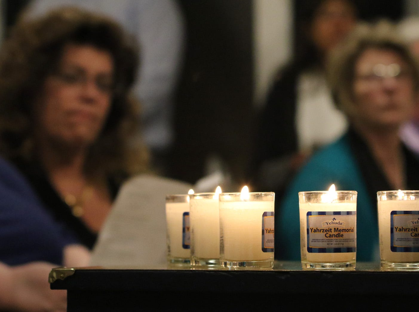 The Beth Hatikvah (House of Hope) Synagogue in Bremerton held a memorial service for the Tree of Life Synagogue shootings Tuesday night in Bremerton. A candle was lit for each person who died during the shooting at the Tree of Life Synagogue.