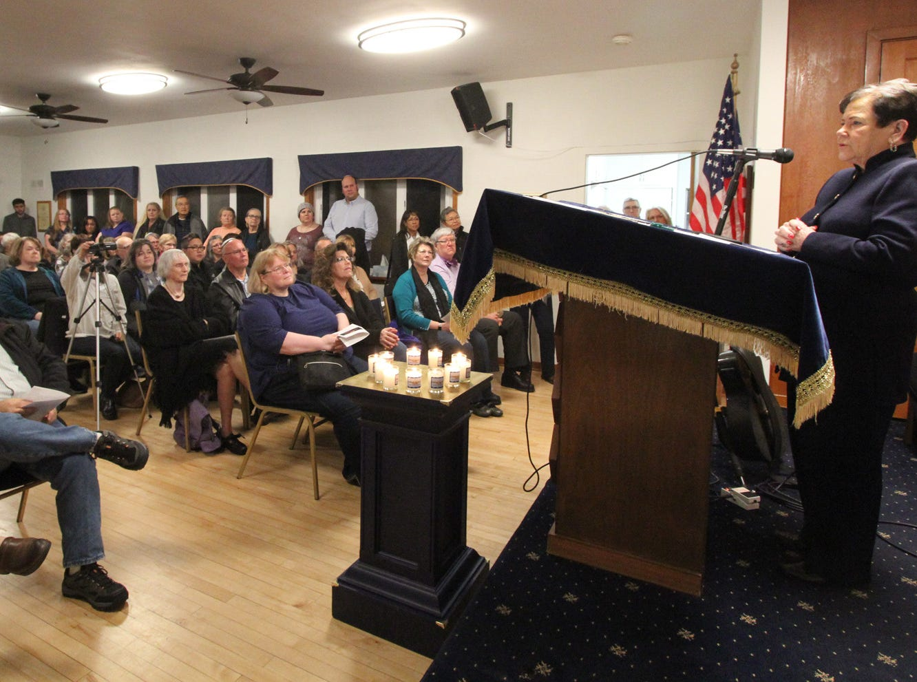 The Beth Hatikvah  Synagogue in Bremerton held a memorial service for the Tree of Life Synagogue shootings Tuesday night in Bremerton.