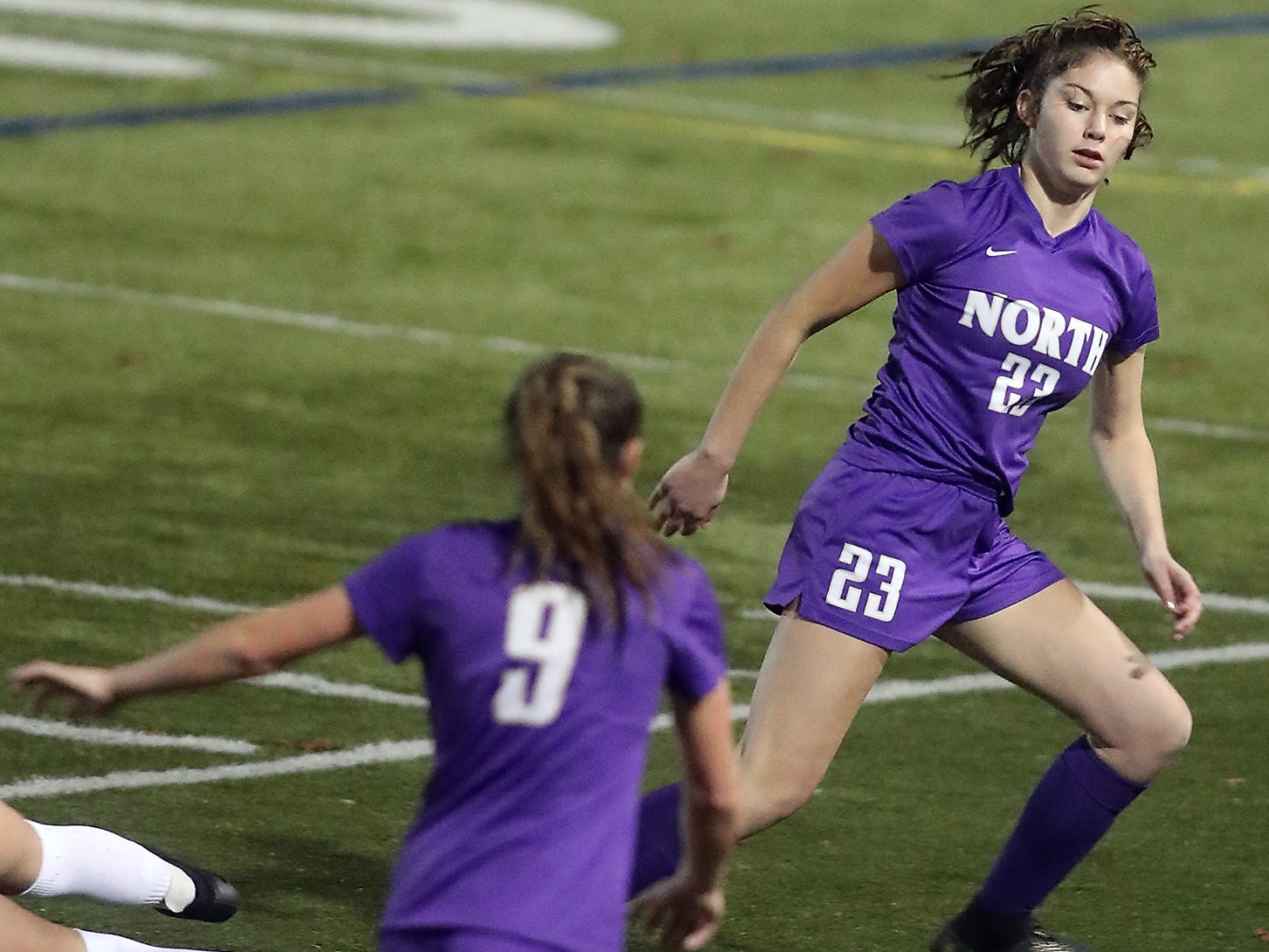 North Kitsap vs Orting girls soccer in Poulsbo on Tuesday, October 30, 2018.