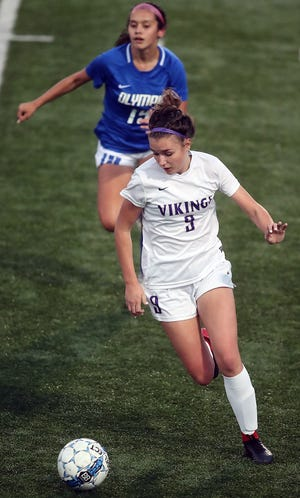North Kitsap's Charlotte Bond leads the Vikings in scoring with 11 goals. North Kitsap is playing in the Class 2A state tournament for the fifth consecutive season.