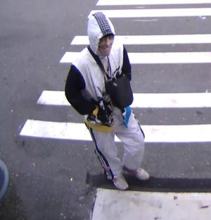 Bremerton Police provided this image, taken from surveilance footage, of the suspect in the robbery of KeyBank on Wheaton Way on Tuesday.