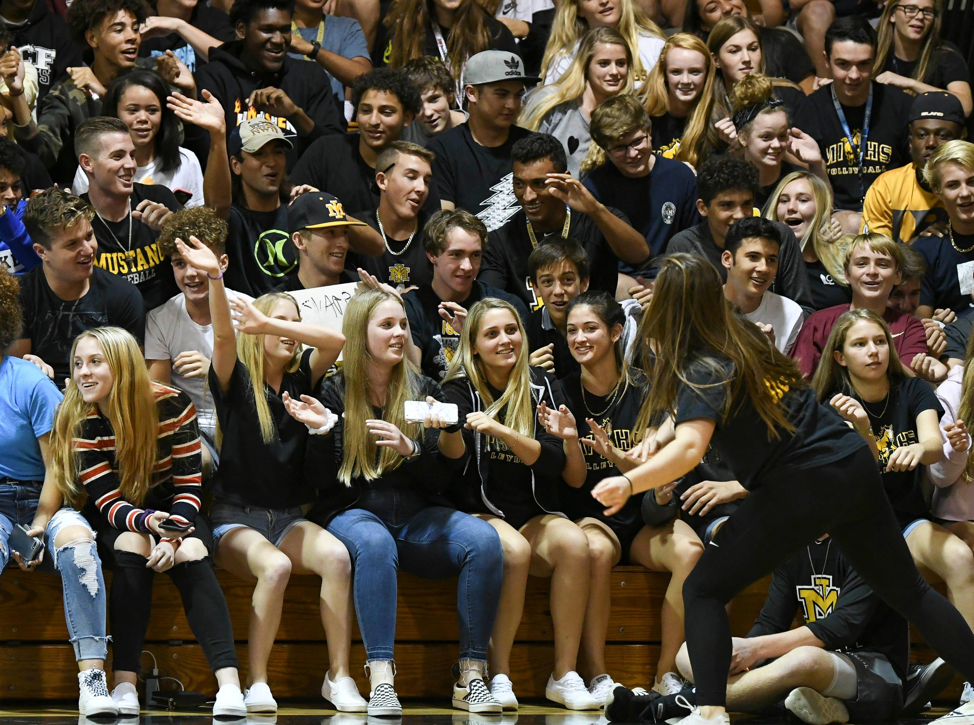 Merritt Island fans have a little fun during Tuesday volleyball regional semifinal.