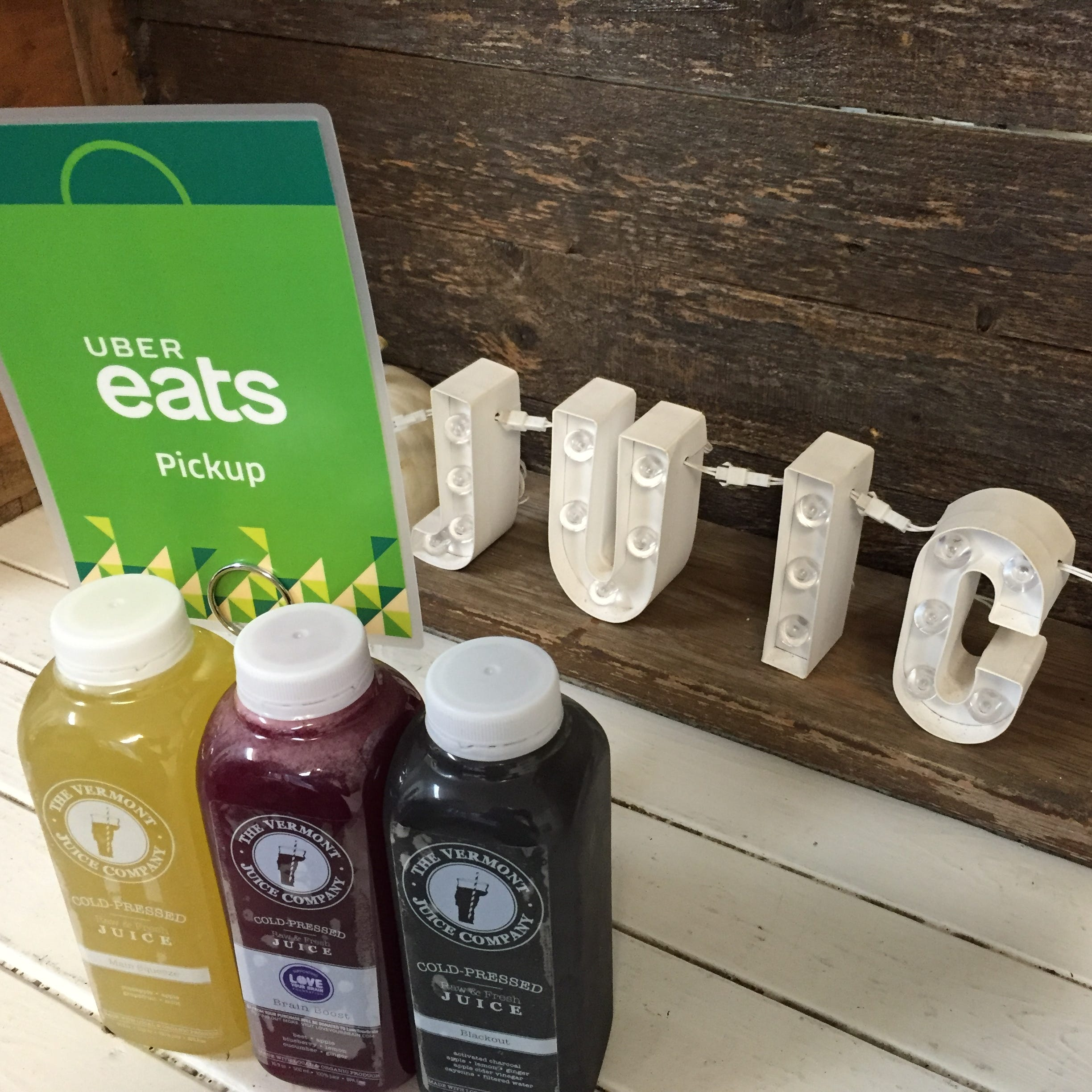 The Vermont Juice Co. is one of a handful of Burlington businesses whose food and drink are now available for delivery via Uber Eats.