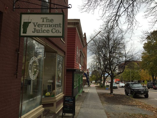 The Vermont Juice Co. on Main Street in Burlington activated its Uber Eats account Wednesday, Oct. 31, 2018.