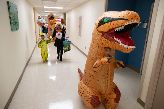 Patients at Driscoll Children's Hospital dressed in Halloween costumes for the annual Pumpkin Parade In October 2018. The hospital, which specializes in pediatric care, plays an integral role in diagnosing birth defects.