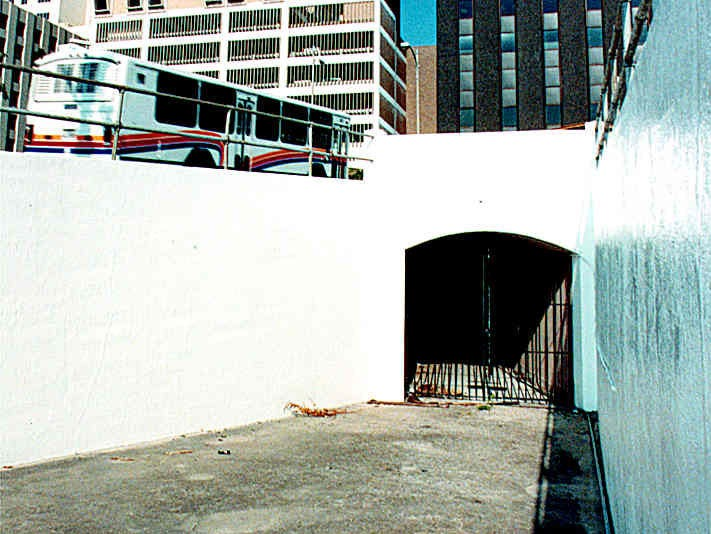 The bluff tunnel that connects downtown and uptown Corpus Christi in July 1990.