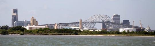 Harbor Bridge, photo taken from the Nueces Bay.