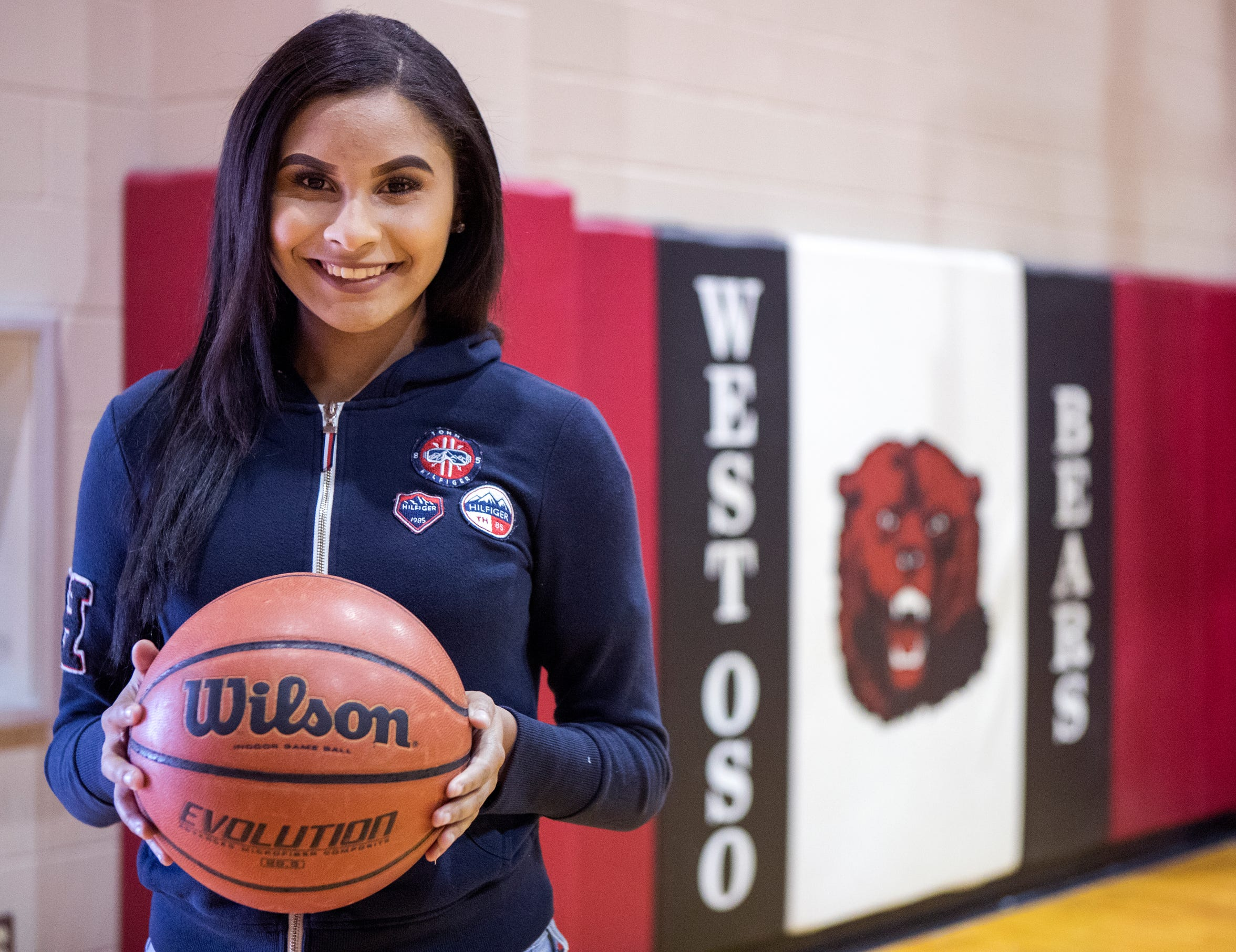 West Oso girls varsity basketball player Alyssa Grant spent two months at the bedside of her father, who was put into a coma after being shot at a convenience store.