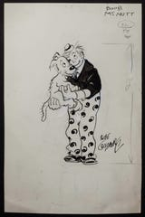 Rube Goldberg's 'Concept Sketch of Boob McNutt' dates from the 1920s. It is an ink and pencil on paper.