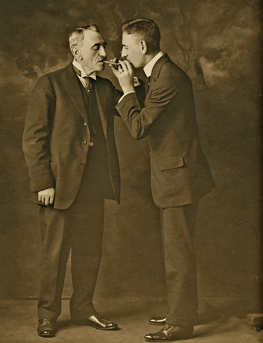 Rube With Father Photograph