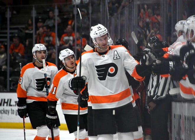 Sean Couturier scored his fourth of the season in the Flyers' desperately needed win over the Anaheim Ducks.