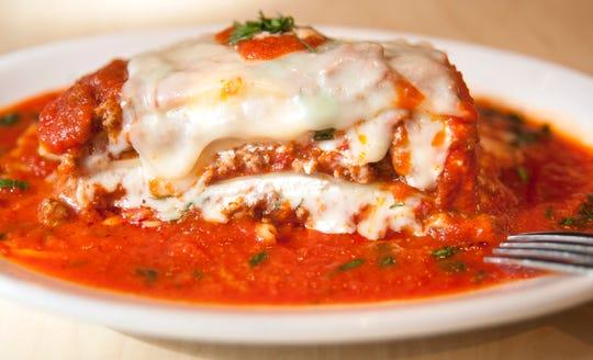 A plate of Lasagna at Passariello's Pizzeria and Italian Kitchen in Haddonfield.