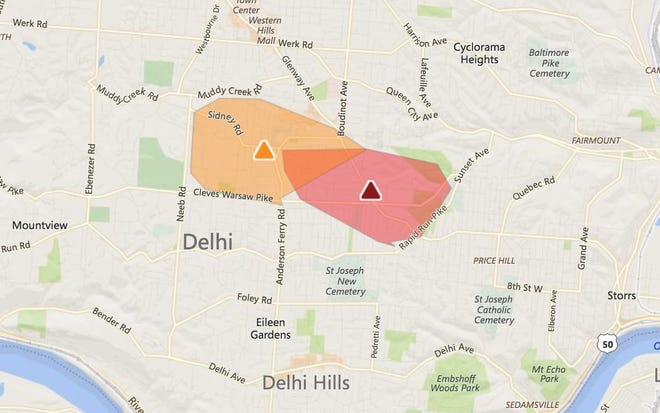 Nearly 4,000 Duke Energy customers lost power Wednesday afternoon.