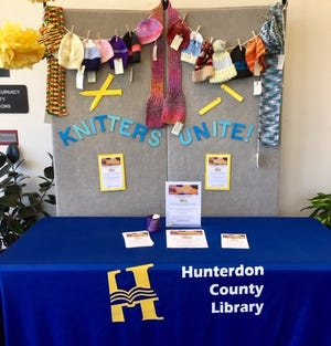 The Knitters Unite knitters and crocheters of the Hunterdon County Library are knitting hats and scarves for the Flemington Food Bank and the United Way of Hunterdon County this year.