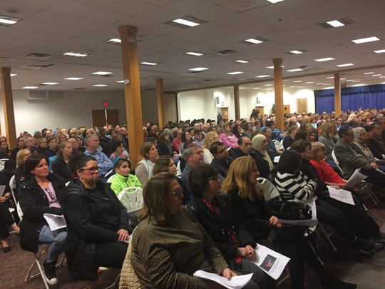 Nearly 1,000 people gathered at Temple Beth-El in Hillsborough Tuesday night for an Interfaith Vigil in Solidarity with the Jewish Community of Pittsburgh.