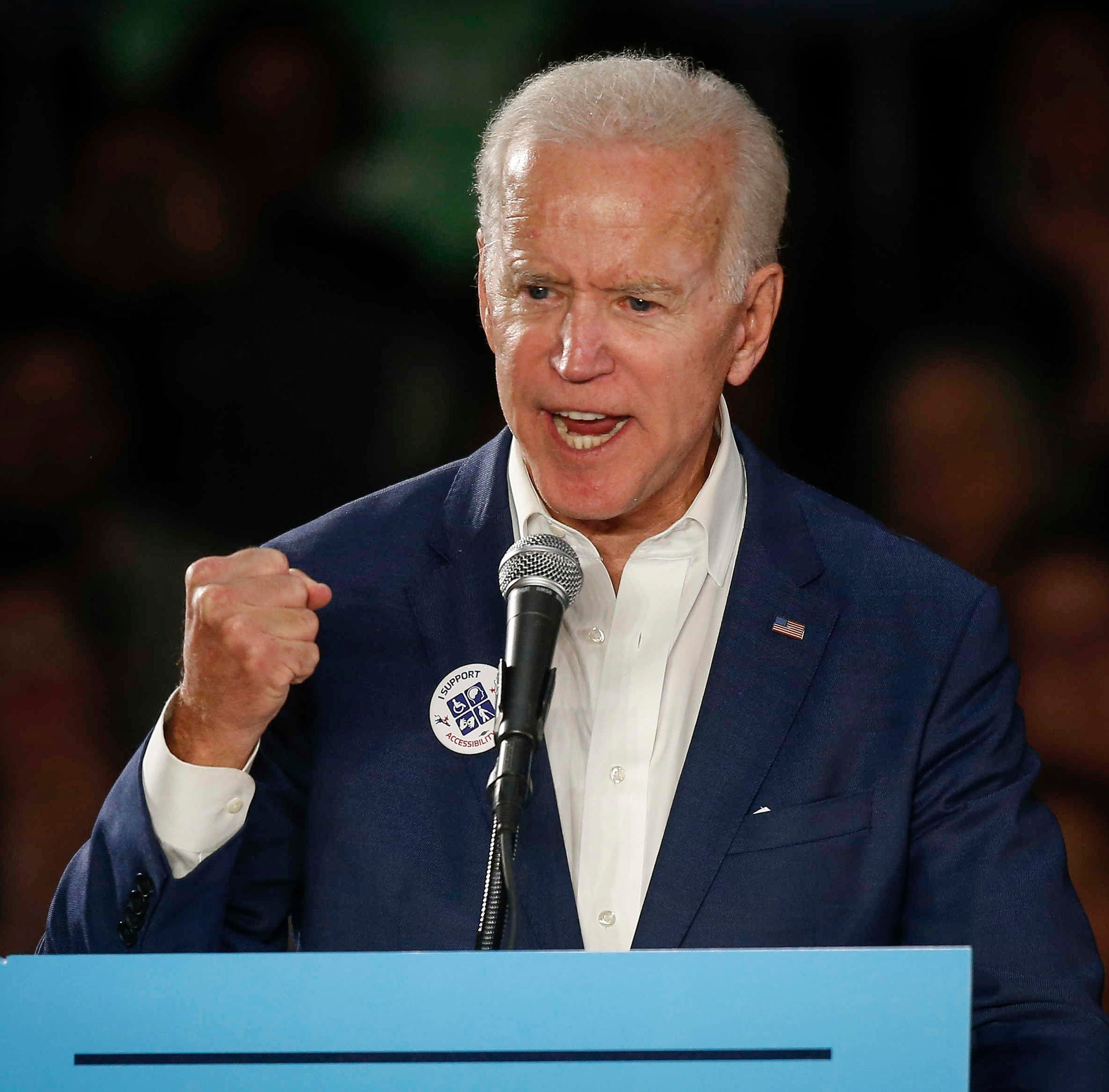 Joe Biden in Cedar Rapids: 'America is so much better than this'