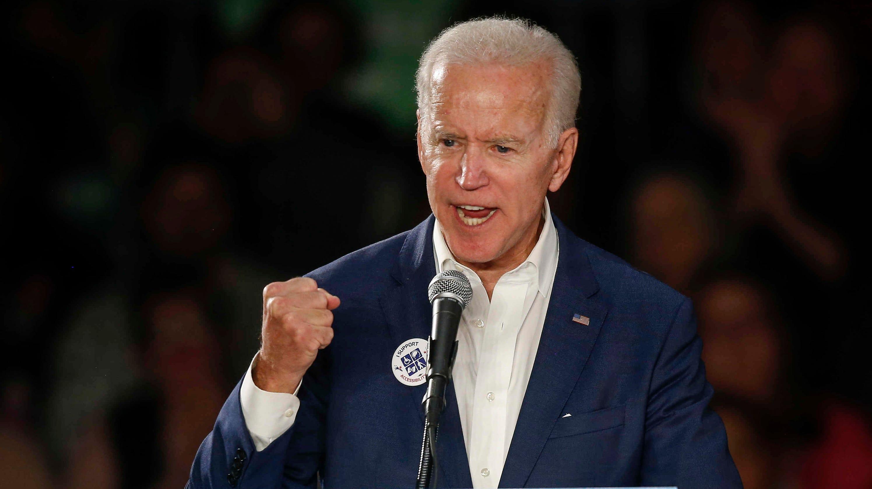Joe Biden told moving military story at campaign stop ...  |Joe Biden