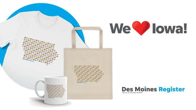 Get your Emoji Iowa gear at ShopDMRegister.com
