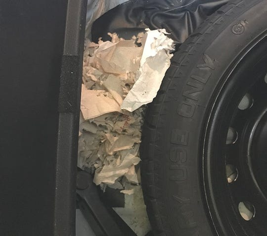 Brad Smith, president of Preferred Pest Control, recently removed a nest of mice from a spare tire.