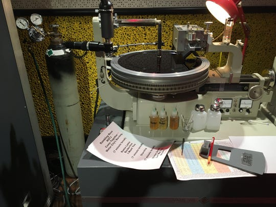 """The MC50's """"Kick Out the Jams"""" anniversary performance is cut live to acetate in a backroom production studio at Third Man Records in Detroit on Oct. 30, 2018."""