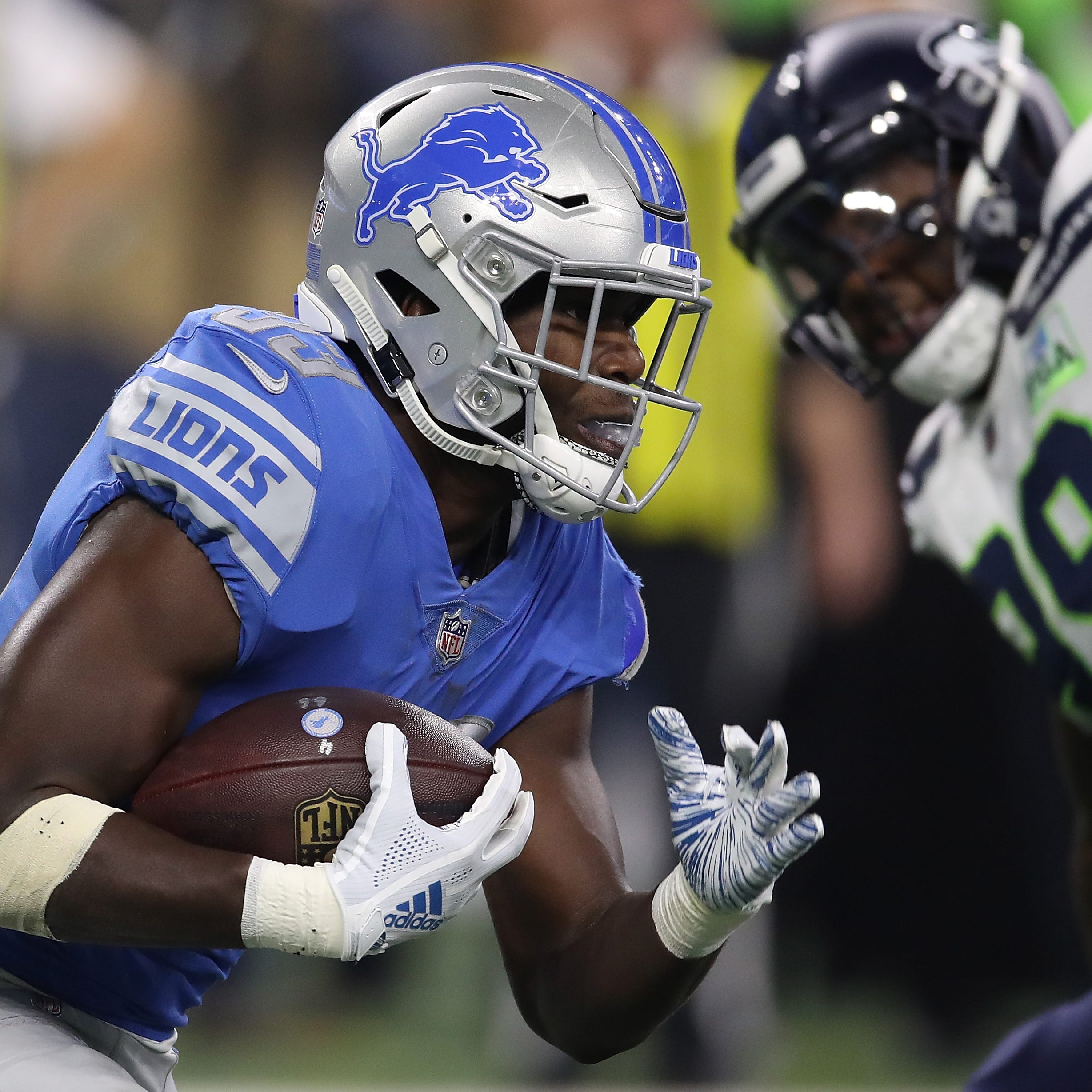 Lions won't overwork Kerryon Johnson after season-ending knee injury