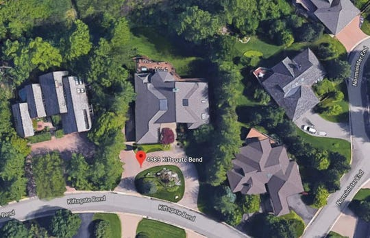 Aretha Franklin's former home in Bloomfield Township.