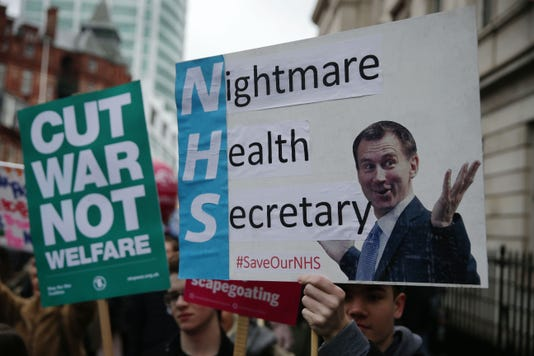 Britain Politics Health Protest