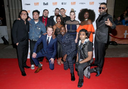 "Cast and crew attend the ""Bodied"" premiere at the 2017 Toronto International Film Festival at Ryerson Theatre in Toronto, Canada."