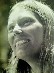 Joni Mitchell at the Mariposa Folk Festival outside Toronto in 1969.