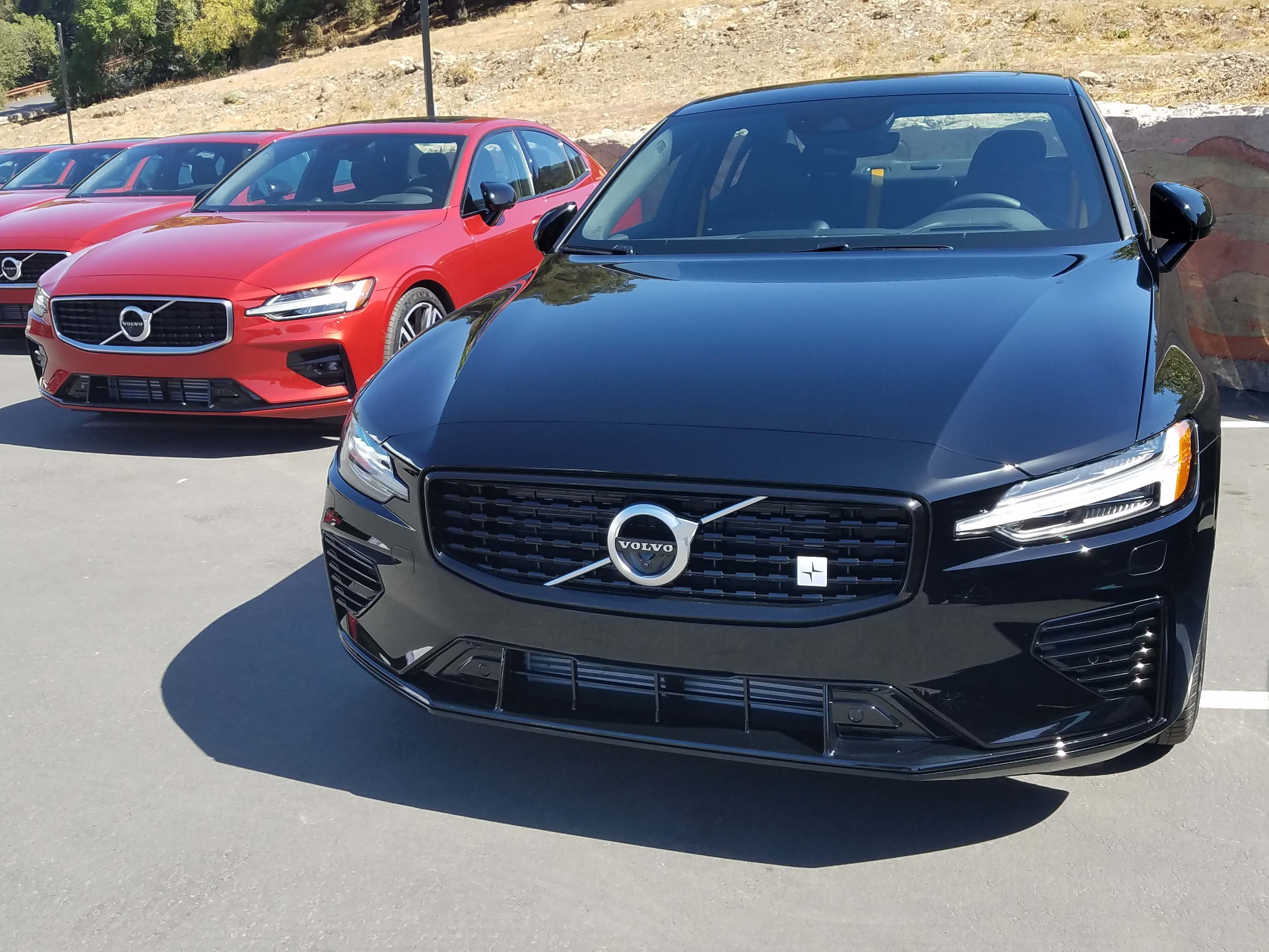 And now for something completely different. The Polestar edition of the 2019 Volvo S60 adds 15 horsepower to its T8 plugin drivetrain, as well as gold seat belts and unique wheels. Polestar is the brand's halo model.