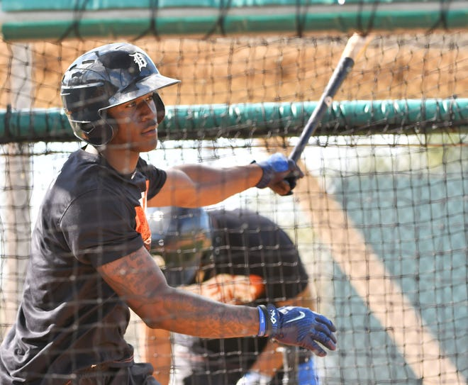 Tigers outfield prospect Daz Cameron, shown here in spring training, is hitting .286 in 12 games in the Arizona Fall League.