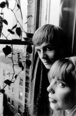 Joni and Chuck Mitchell circa 1965 in their Ferry Street apartment in Detroit.