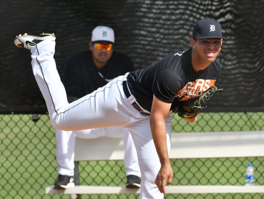 Tigers pitching prospect Franklin Perez is coming off an injury-filled 2018 season.