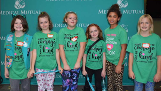 "Girl Scouts from Oak Harbor participated in ""Staying Fit""."