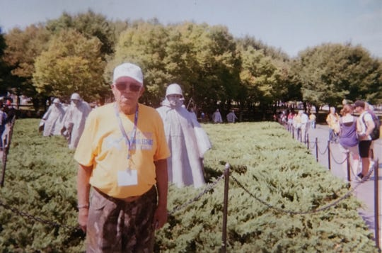 Robert C. Jones of Fremont served in the U.S. Army during the Korean War. He took part in an Honor Flight to Washington in 2017, visiting the capital's war memorials.