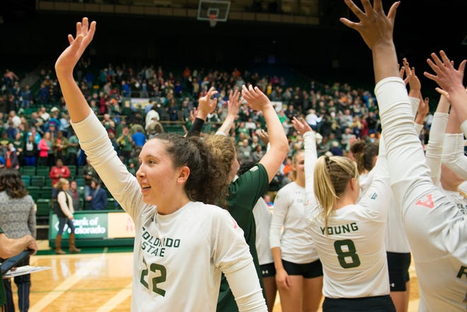 The CSU volleyball team can clinch the Mountain West championship when it hosts UNLV at 7 p.m. Thursday at Moby Arena.