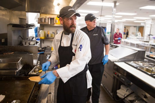 Executive chef Billy Charters works in the cafeteria at Poudre Valley Hospital on Tuesday, October 30, 2018. The cafeteria boasts that it is changing the way people think about hospital food.
